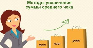 Методы увеличения среднего чека